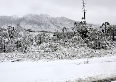 Snow on the West Coast of Tasmania