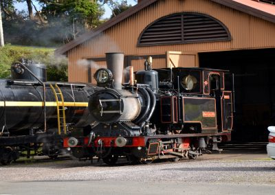 Steam train in Strahan Tasmania